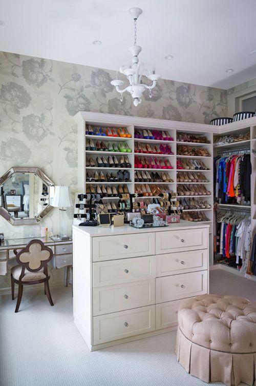 dream closet!!!!!    My Cup of Te: Bethenny Frankel's Tribeca Loft in Traditional Home