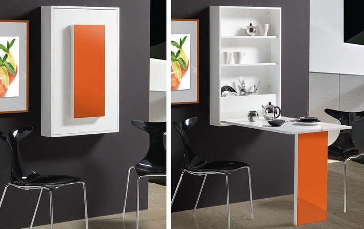 Dos mesas de comedor para espacios peque os stylohome for Muebles de cocina para espacios pequenos