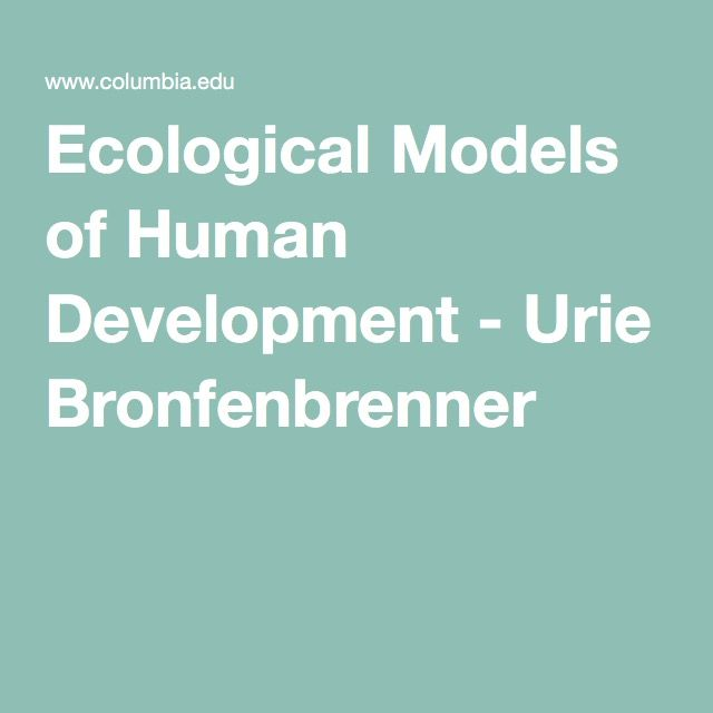 Urie bronfenbrenner ecological theory essay