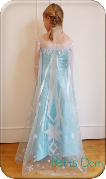 COSTUME - FROZEN / REINE DES NEIGES - QUEEN ELSA - Tuto reine des neiges