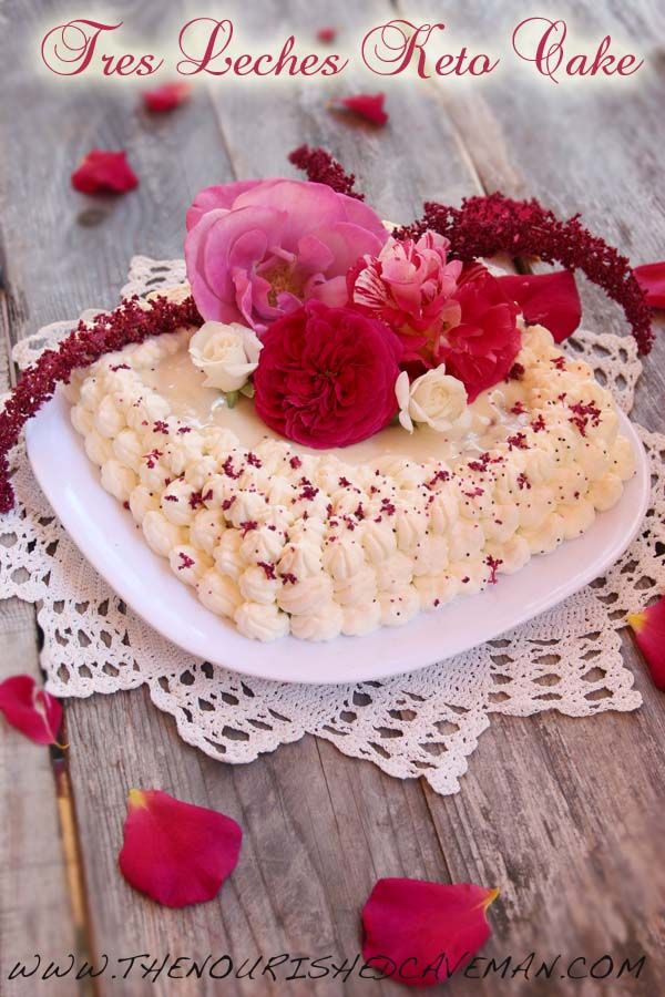 This is the low carb keto cake version of one of my favorite cakes: the famous Mexican Tres Leches!