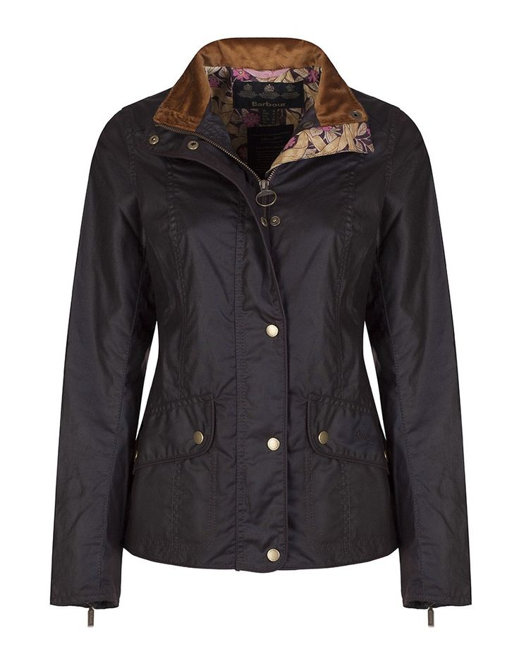 Barbour Women's Manderston Wax Jacket with William Morris Pimpernell Lining - Rustic LWX0586RU91 - Women's Wax Jackets - Women's Jackets and Coats - Women | Country Attire