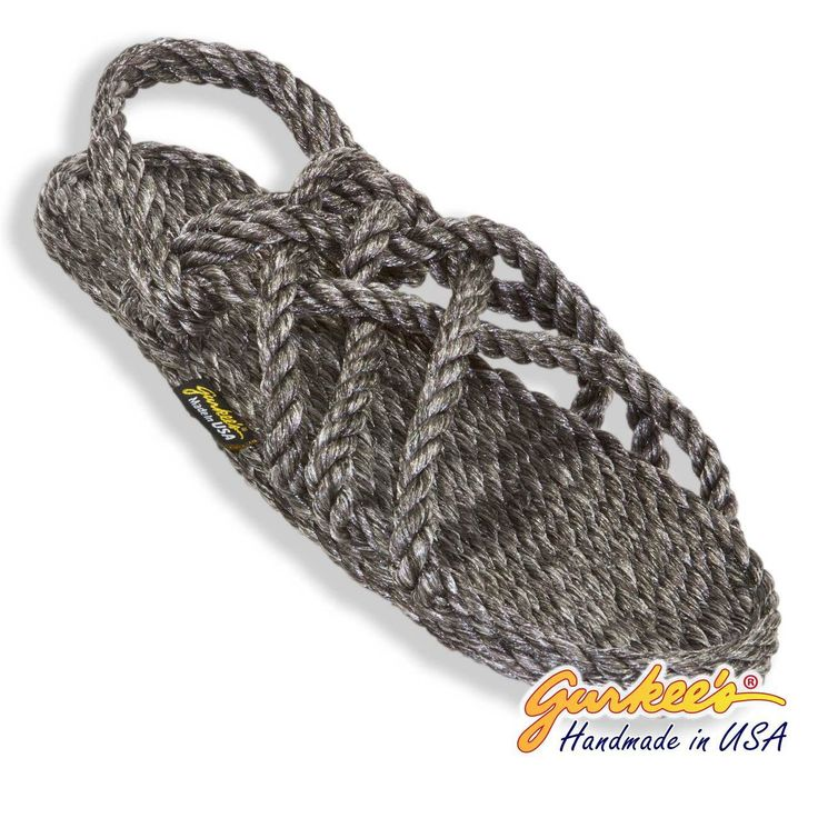 Signature Neptune Black Ice Rope Sandals - Gurkee's