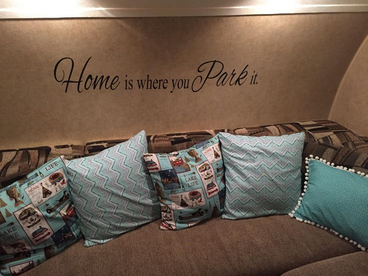 Amazon.com - Home is where you Park it- vinyl RV / camper wall decal -