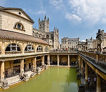 The Roman Baths in Bath, England. This place is breathtaking! The history is astounding. If you go, be sure to visit The Pumphouse, the restaurant connected to the museum for your complimentary glass of mineral water. But be careful! It comes straight from the ground so it's going to be hot!