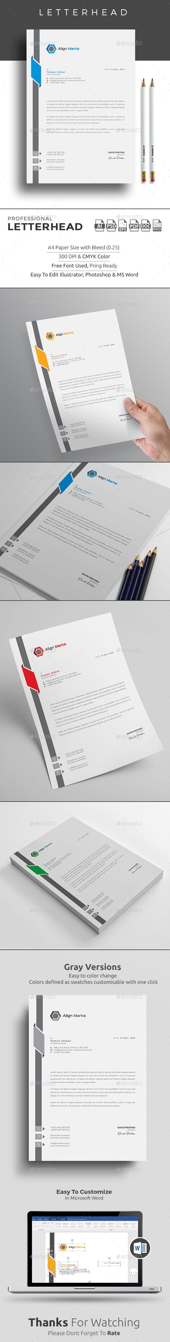 #Letterhead - Stationery Print Templates.Download here: https://graphicriver.net/item/letterhead/17225369?ref=arroganttype