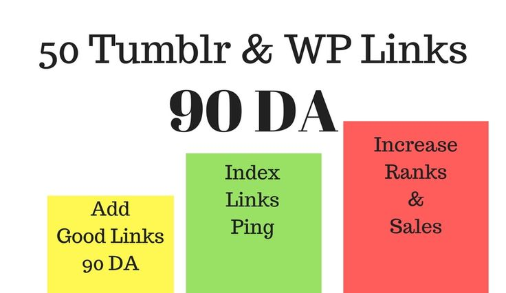 Get 50 Tumblr and WP Links with a 90 DA.  Great for ranking your website, blog, post.