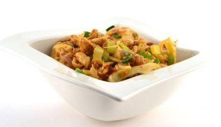 Thaise Groenten Met Kipfillet Gemarineerd In Shoarmakruiden