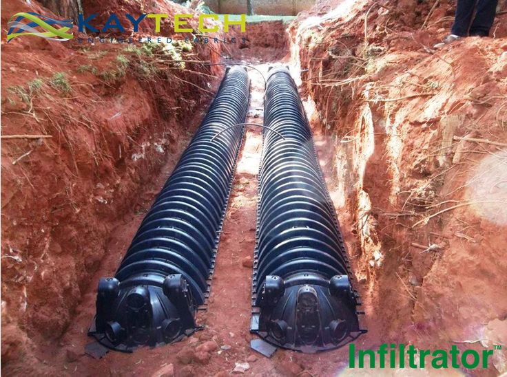 The Infiltrator Chamber, a direct replacement for the stone and pipe, stormwater and wastewater stone drain system #SavesYouMoney #EasyToInstall #BuiltToLast