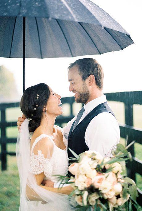 Brides.com: 25 Wedding Photos that Prove Rain on Your Big Day Isn't a Big Deal