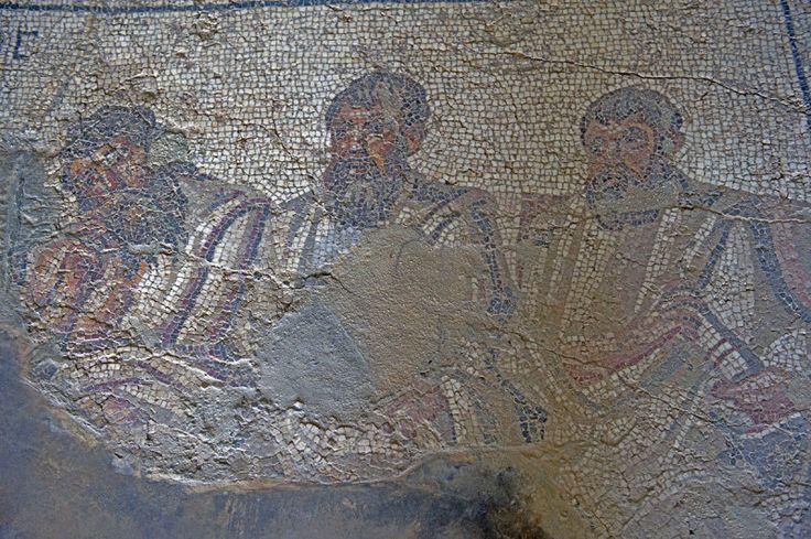 Socrate con i sei filosofi. Mosaico (un dettaglio), IV secolo. Apamea, Siria. Foto di Dick Osseman