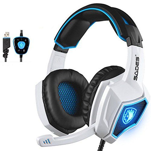 FarCry 5 Gamer  #Yanni #Sades #SPIRITWOLF #USB #Version 7.1 #Surround #Sound #Stereo #Gaming #Headset #PC #Computer #Headphones Over #Ear with #Mic, #Noise #Reduction, #Volume #Control, #LED For Gamers(White Black)   Price:     #SADES,with over 20 years of professional production experience and strong technical force, is outstanding in the circle of #gaming peripherals ,devoting whole life to provide highest standard and professional #gaming accessories. Model #SPIRITWOLF is