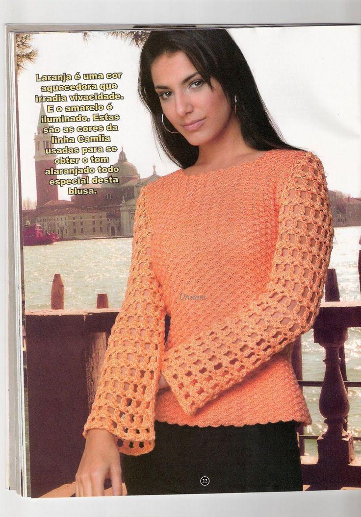 blusas de croche | Crochês da Neci