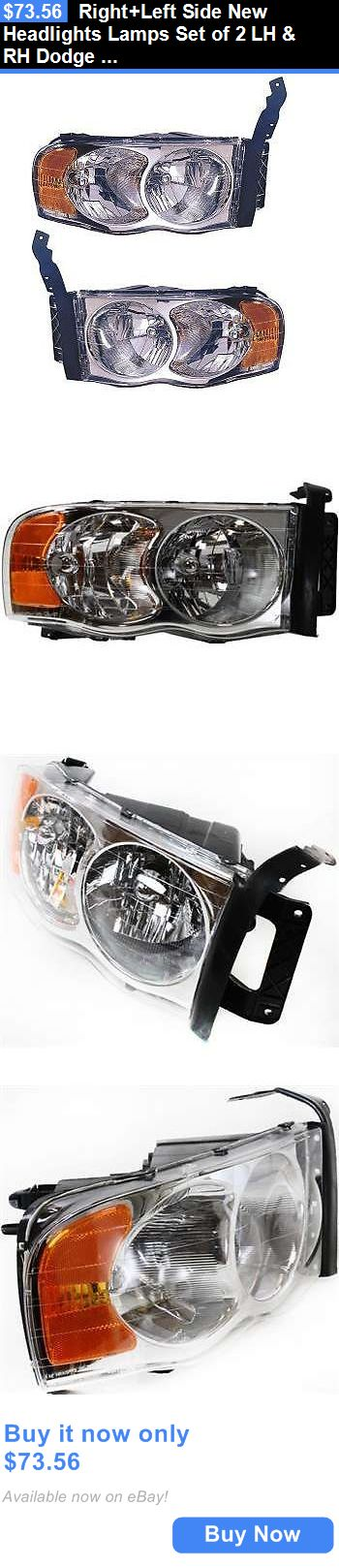 auto parts - general: Right+Left Side New Headlights Lamps Set Of 2 Lh And Rh Dodge Ram 1500 Truck Pair BUY IT NOW ONLY: $73.56
