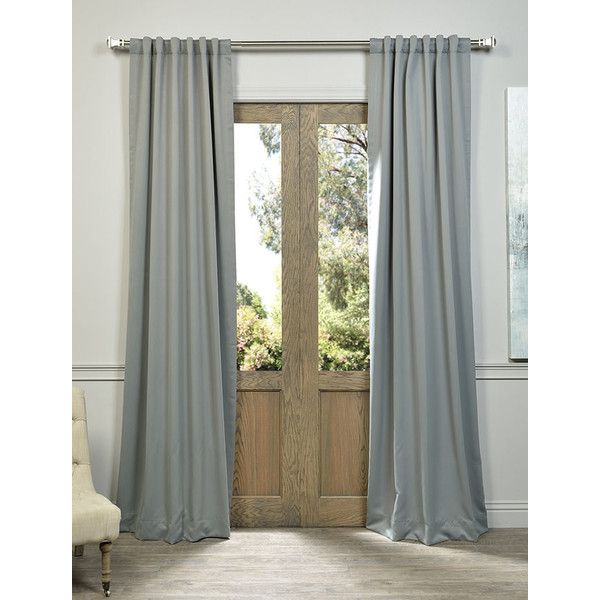 Pole Pocket Neutral Grey Blackout Curtain (225 SEK) ❤ liked on Polyvore featuring home, home decor, window treatments, curtains, grey window treatments, gray blackout curtains, black out curtains, gray curtains and grey home decor
