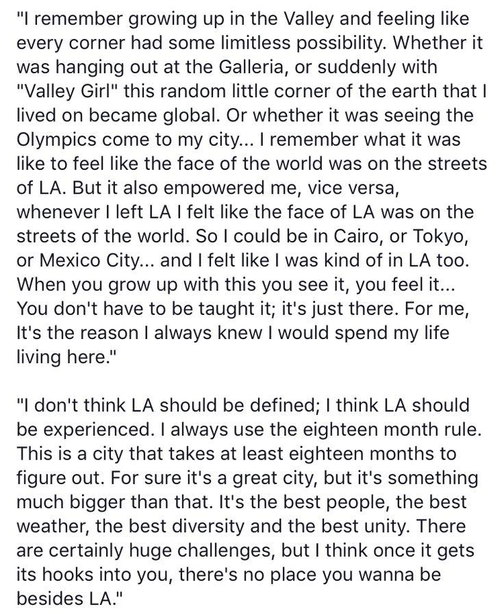 Eric Garcetti on his City of Angels.