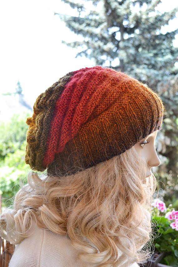 Knitted multicolor kauni lace beani cap hat by DosiakStyle on Etsy #beanie, #browbeanie