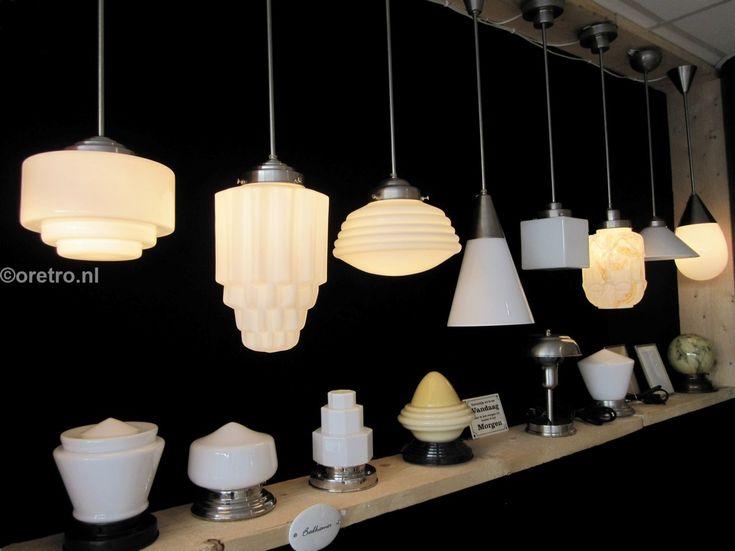 Art deco lampen jaren 20, 30 Gispenstijl  www.oretro.nl