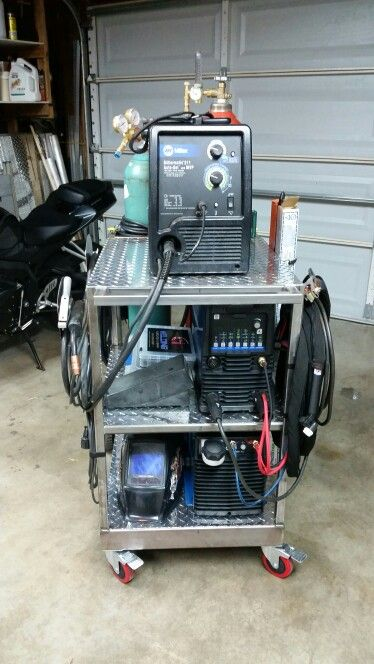My Welding Cart G Welding #welding  #weldinglife #gweldingfab #aluminum #stainless #tig #mig #fabrication #fab #gtaw #tiglife https://www.facebook.com/GWelding