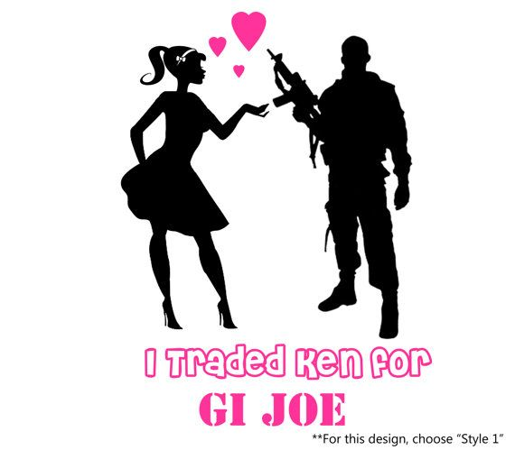 I Traded Ken for GI Joe Barbie & You Can Keep Ken by stickEdecals