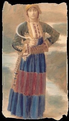Women costume from the Mani Peninsula in the Peloponnese