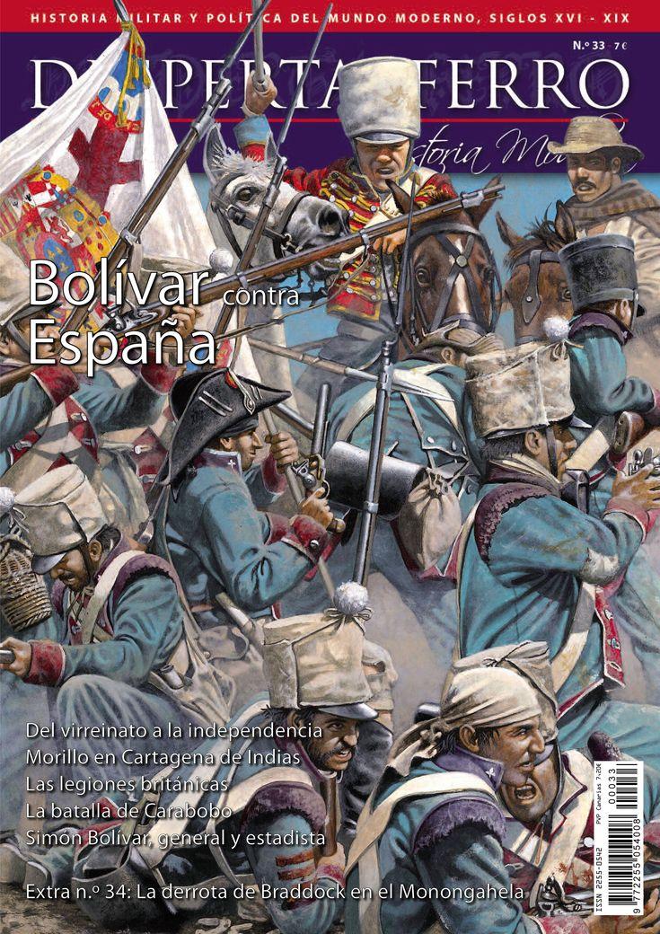 """Portada de """"Bolivar contra España"""", n.º 33 de Desperta Ferro Historia Moderna. © Zvonimir Grbasic"""