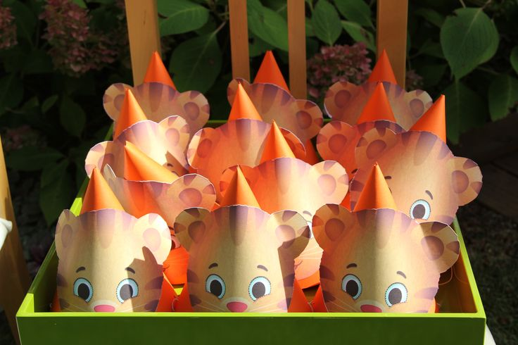 Daniel Tiger Party Hats