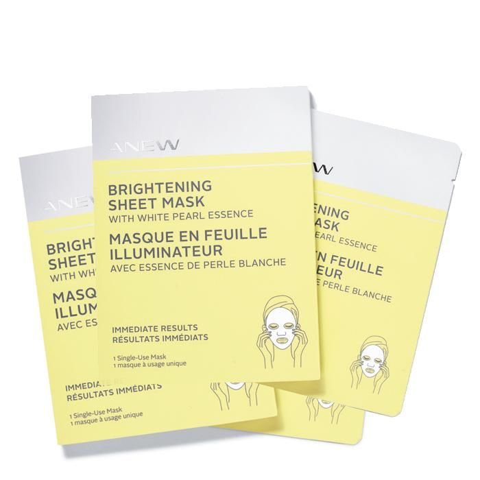 ANEW Brightening Sheet Mask with White Pearl Essence (4 pack) | AVON
