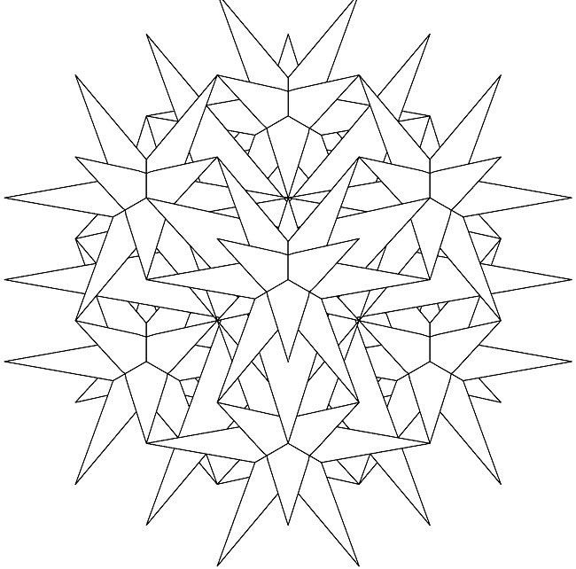 23 Star Beginner Mandala Coloring Pages