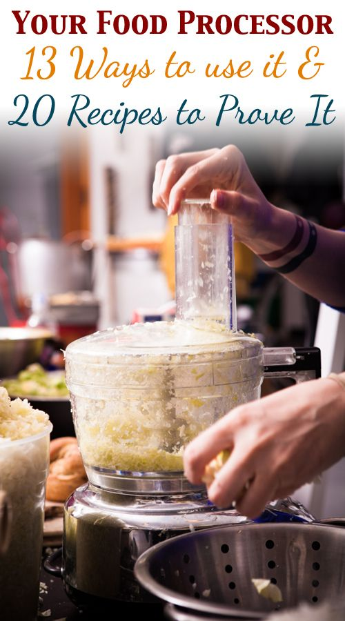 The Food Processor: 13 Ways to Use It & 20 Recipes to Prove It Becky Garus, this one is for you :)
