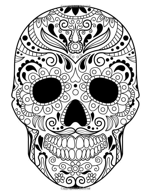 190 best DAY OF THE DEAD COLOUR images on Pinterest Coloring books - copy dia de los muertos mask coloring pages