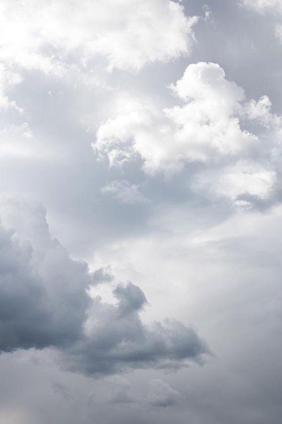 Cloud Print Light Blue Photo Downloadable Prints Printable