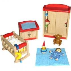 Puppenhausmöbel Von Toys Pure / Beni Design Richten Das Kleine Kinderzimmer  Komplett Ein. Das Set