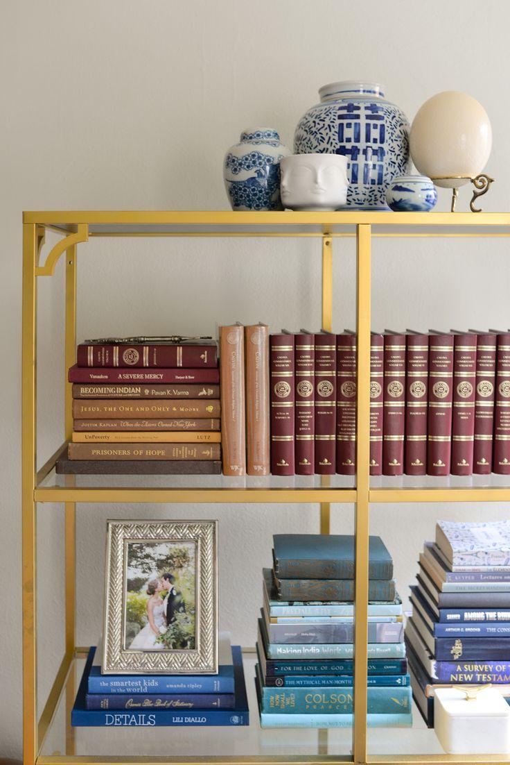 On Pinterest Organizing Bookshelves Coffee Table Books And Brass