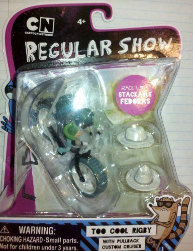 Regular Show Too Cool Rigby W/pullback Custom Cruiser and Stackable Fedoras @ niftywarehouse.com #NiftyWarehouse #RegularShow #TV #Shows #Cartoon