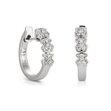 18kt white gold TOUS Bear earrings with Diamond. Total carat weight 0.12ct.  TOUS Washington DC
