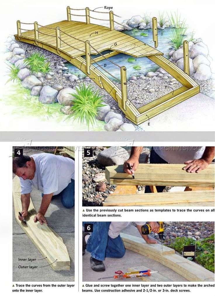 #2108 Backyard Bridge Plans - Outdoor Plans