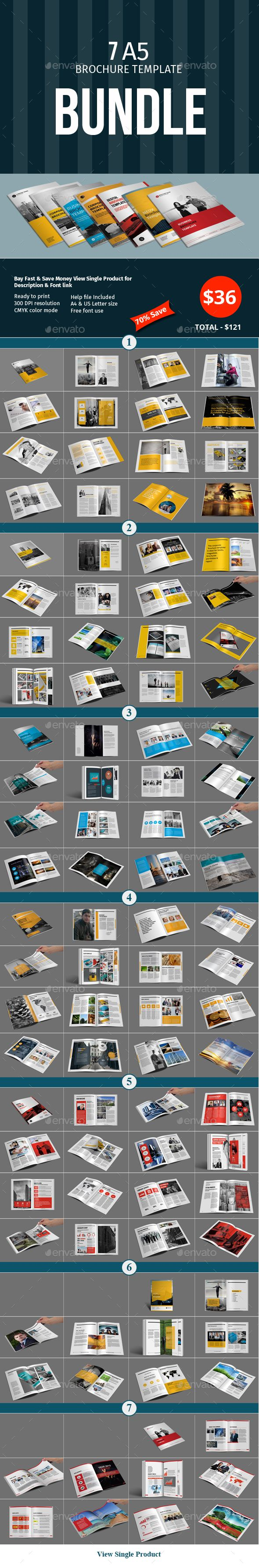 A5 Brochure Template Bundle — InDesign INDD #company #148x210 • Download ➝ https://graphicriver.net/item/a5-brochure-template-bundle/18842899?ref=pxcr