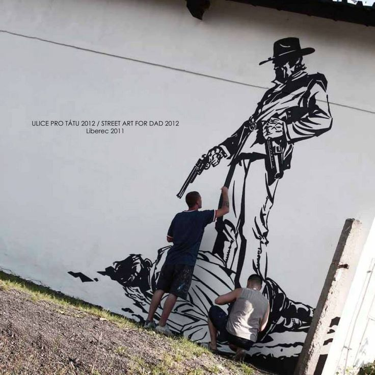 Street art for Dad