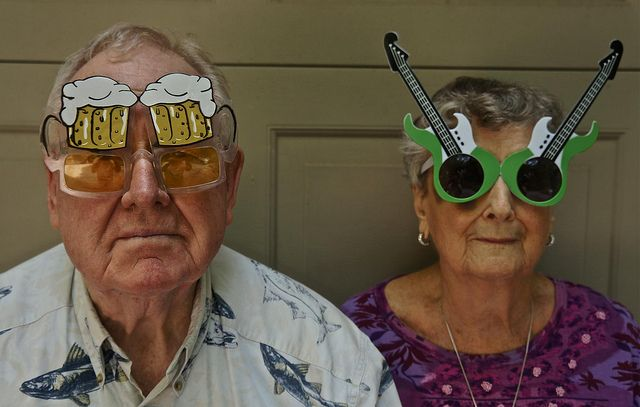 Portrait of an Older Couple Wearing Goofy Glasses | Flickr - Photo Sharing!