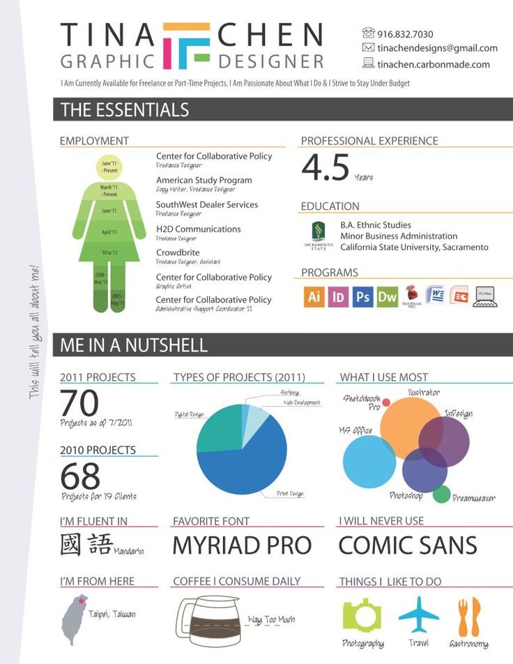 30 Beautiful Resume Designs For Your Inspiration ... |Cool Infographic Resume Template