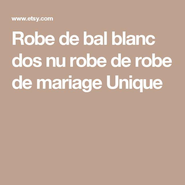 Robe de bal blanc dos nu robe de robe de mariage Unique
