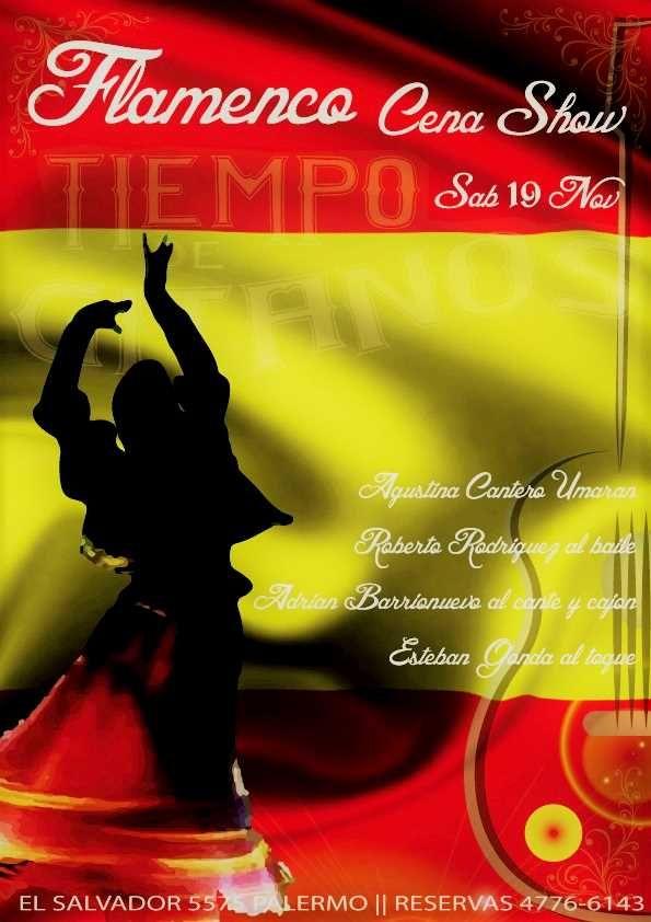 Mañana noche de Flamenco en Tiempo de Gitanos!!! Quedan pocos lugares, apurate a reservar llamando al 4776-6143