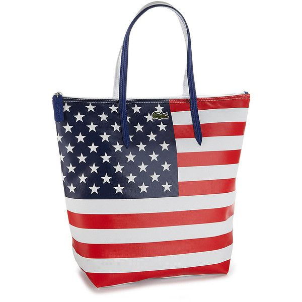 Lacoste American Flag Tote ❤ liked on Polyvore