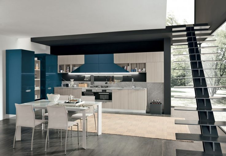 colombini lungomare konyhabútor modern kitchen furniture nature, Kuchen