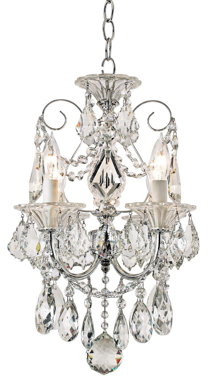"$500 Closet--Schonbek Silver Palace Crystal Mini Chandelier  12"" w 16""H | 55DowningStreet.com"