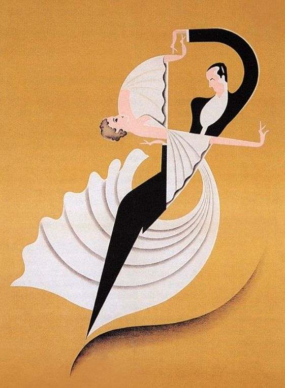 "Deco Poster ~ by Titus Livi ""de"" Madrazo (1899-1970), 1930's, Ruby et Sagan."