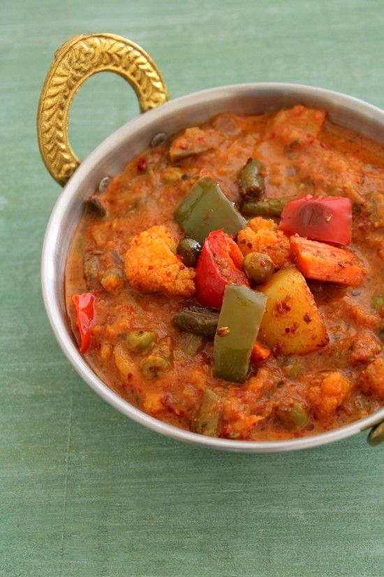 Kadai vegetable recipe | Veg kadai recipe, restaurant style gravy recipe - step by step
