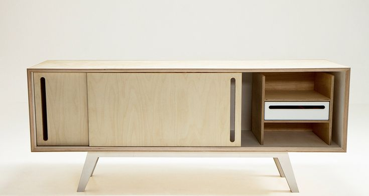 Birch Veneer Buffet ~ Ideas about plywood storage on pinterest