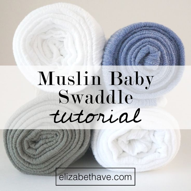 Muslin Baby Swaddling Blanket Tutorial | Now you can enjoy Aden and Anais like cotton baby swaddles on a shoestring budget. Grab your sewing machine and take a few minutes to sew one of these swaddles for your newborn or a baby shower gift. | www.elizabethave.com